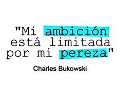 Definitivamente: Mi ambición está limitada por mi pereza.