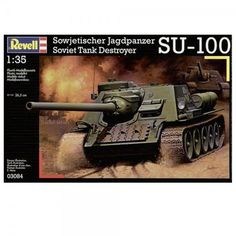 A model kit about the Soviet Tank Destroyer SU-100 from the brand Revell with the ref 03084