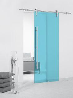 Puerta corredera de cristal Casali System Ocean Transparente de Maydisa. www.maydisa.com