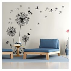 Dandelion Wall Decal - Wall Stickers Dandelion Art Decor- Vinyl Large Peel and Stick Mural, Removable by Dooboe - Brand new high quality wall decals. Ship fast from Texas with valid tracking number. Packed well with craft box. Wall Stickers Dandelion, Dandelion Wall Art, Wall Stickers Home Decor, Dandelion Flower, Diy Stickers, Bedroom Stickers, Removable Vinyl Wall Decals, Vinyl Wall Art, Sticker Vinyl