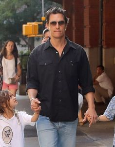Couple Matthew McConaughey and Camila Alves are seen out with their children in New York City.