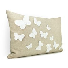 12x18 butterfly pillow cover in natural beige by ClassicByNature