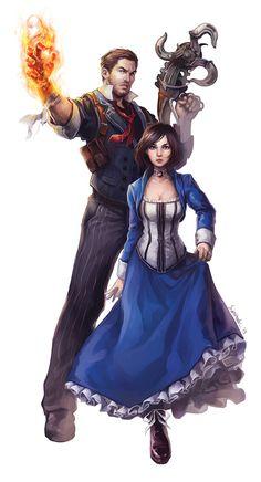 BioShock Infinite: Booker DeWitt and Elizabeth Bioshock Game, Bioshock Series, Bioshock Elizabeth, Ms Elizabeth, Irrational Games, Elizabeth Cosplay, Bioshock Cosplay, Fanart, Sr1