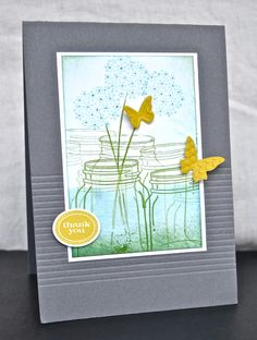 Love the stamping technique Vicky used to give the jars depth #cards #stamping