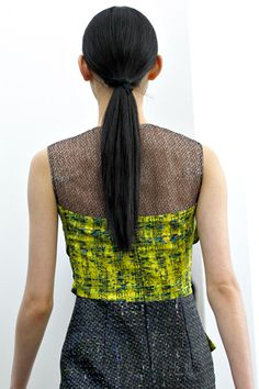 The #ponytail is definitely having a strong showing for Fall, and at Erden they were low and straight. Time to stock up on Ouchless #Elastics.