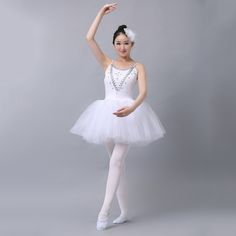 Best Selling Professional Ballet Costumes Ballet Dress Sleeveless Women Dance Wear Stage Performance Clothing 4 Colors #Affiliate