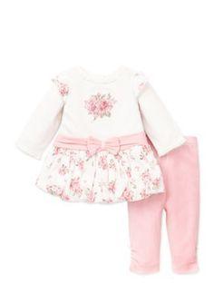 Little Me  Heirloom Rose Dress  Legging Set