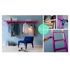 An easy diy project that helps hangup clothes