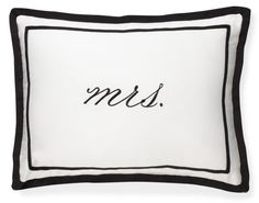 This would be so cute on a love seat, one for mr. and mrs. :)