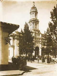 TALCA: Iglesia Santo Domingo, inicios S.XX Trail, The Past, Architecture, Vintage, Photos, Santiago, Old Churches, Antique Pictures, War Of The Pacific