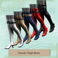 Genesis Thigh Boots and love the color varieties!