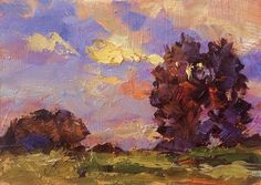 COLORFUL IMPRESSIONIST LANDSCAPE by TOM BROWN, painting by artist Tom Brown
