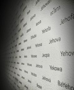 The wall in THE BIBLE AND DIVINE NAME exhibit in the 25 building in Brooklyn Bethel. Jehovah's name appears in 492 languages. The name is also printed 7,216 times on the wall which is the number of times God's name appears in the New World Translation. Photo shared by @paycheck212