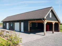 Garage Guest House, Garage Shop, Carport Garage, Garages, Shed, Farmhouse, Outdoor Structures, House Styles, Outdoor Decor