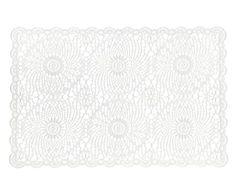 Lugar Americano Laura Crochê Branco - 29X43cm