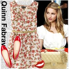 quinn fabray > sunday look > yellow & strawberry red > cherries dress > always flats Pretty Outfits, Cool Outfits, Pretty Clothes, Work Clothes, Glee Fashion, Fashion Trends, Fashion Ideas, Engagement Photo Outfits, Engagement Photos