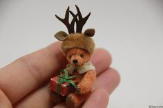 2017.11 Miniature Christmas Teddy Bear ♡ ♡ By Nao Colle