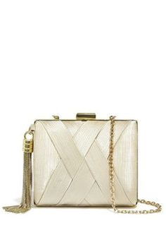Pleated Satin Minaudiere | GUESS.com