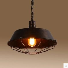 8f52224d76a Adjustable Industrial Nautical Barn Cage Pendant Light - LITFAD Single  Pendant Lamp with Rustic Dome Bowl Shape Mounted Fixture Ceiling Light  Chandelier in ...