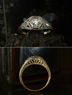 I love vintage engagement rings Which is why Ill be wearing my Unusual Wedding Rings, Wedding Rings Vintage, Wedding Rings For Women, Vintage Rings, Art Deco Ring, Art Deco Diamond, Art Deco Jewelry, Jewelry Crafts, Deco Engagement Ring