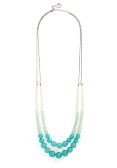 Bead All That You Can Be Necklace. Take your style to bold new heights by accessorizing with this colorblocked necklace! #mint #modcloth