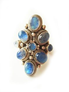 One of a Kind Massive Vintage Rainbow Moonstone by NakiaDesign, $215.00