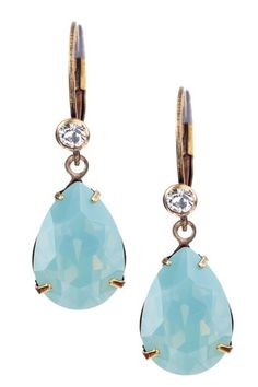 Liz Palacios    Swarovski Crystal Teardrop Earrings