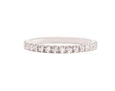 Natasha Sherling Eternity ring, diamonds set to an white gold band. Also available in platinum, half-set and one-third set! Calendar 2014, Advent Calendar, Custom Wedding Rings, Eternity Ring, Third, Fine Jewelry, Diamonds, White Gold, Jewels
