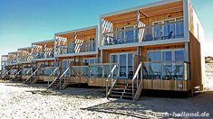 Übernachten direkt am Meer. Strandhäuser in Holland mit Sandstrand und Nordsee vor der Tür.