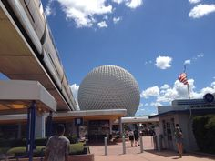 EPCOT  ~ entrance with beautiful skies