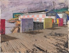 Coogee Baths, Winter, 1961 Jeffrey Smart, Coogee Beach, Baths, Museum, Study, Winter, Painting, Collection, Winter Time