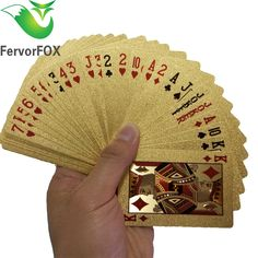 Original Waterproof Luxury 24K Gold Foil Plated Poker // Price: $10.95 & FREE Shipping //  We accept PayPal and Credit Cards.    #gameronboard #boardgame #cardgame #game #puzzle #maze #toys #chess #dice #kendama #playingcards #tilegames