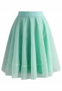 Turely Tulle A-line Skirt in Mint