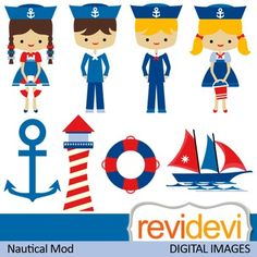 This nautical themed clipart set features cute kids in sailor costumes. Anchor, light house, boat, are among the images.  These cliparts are great for teachers and educators for creating their school and classroom projects such as for bulletin board, printable, worksheet, classroom decor, craft materials, activities and games, and for more educational and fun projects.
