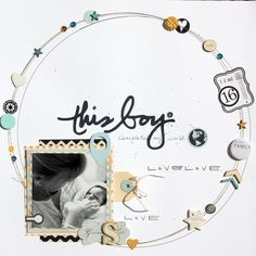 This Boy scrapbook layout by Ali Parris