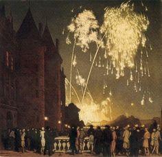 Tavík František Šimon (Czech, 1877-1942), Fireworks at the Conciergie