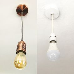 Easily replace & update your old pendant lighting with my DIY pendant light kit for brand new, quality metal fittings in your choice of finish & fabric flex Diy Pendant Light, Pendant Lamp, Pendant Lighting, Diy Store, Cool Lamps, Ceiling Rose, Jar Lights, Jar Lamp, Light Fittings