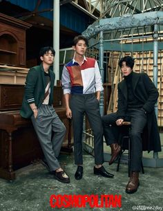 Byun Baekhyun with male actors of Scarlet Heart Ryeo