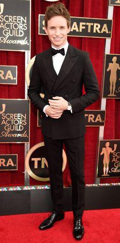 SAG 2015 Red Carpet Arrivals - Eddie Redmayne from #InStyle