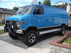 So no I would not fly in from anywhere and plan to drive this van across country. Would be great extra vehicle camper van or what not. Very comfortable with two captains chairs and a bench seat that lets down into a bed in the back. 4x4 Van, Chevrolet G20, Lifted Van, Gmc Vans, Automobile, Astro Van, Chevy Express, Cool Tools, Handy Tools