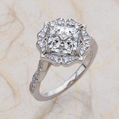 Forever One Vintage Bridal Moissanite Engagement by EJCOLLECTIONS