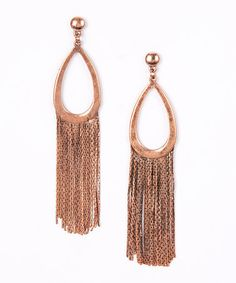 Another great find on #zulily! Copper Tassel Tear Drop Earrings by ADIA KIBUR Accessories #zulilyfinds