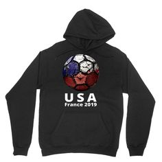 Unisex Hooded Sweatshirt Amazingly Good Products USA Womens Soccer Kit France 2019 Girls Football Fans