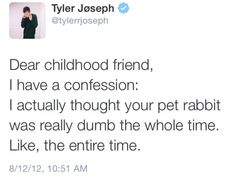 Tyler Joseph being real. And funny. Twenty One Pilot Memes, Twenty One Pilots, Tyler And Josh, Tyler Joseph, The Few The Proud, Josh Dun, Top Memes, Staying Alive, My Chemical Romance