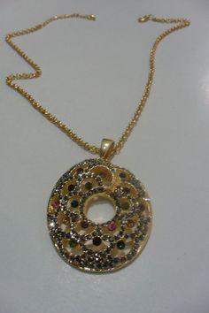 slim and elegantdouble teamgoldplatedcolorful crystal by aydam, $30.00