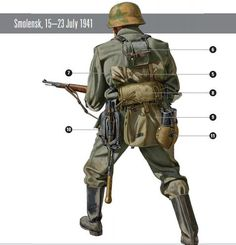 Imagen Army Drawing, Soldier Drawing, Ww2 Uniforms, German Uniforms, German Soldiers Ww2, German Army, Military Drawings, Military Figures, Military Modelling