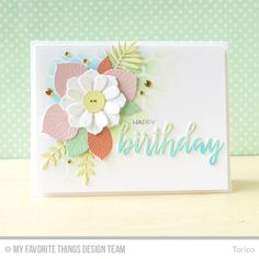 STAMPARADISE: MFT September Die-namics Design - Flowers and Foliage