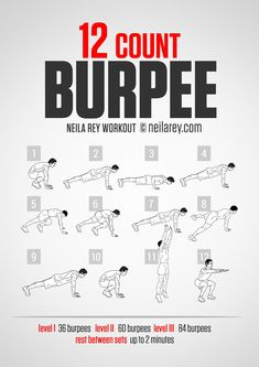 12-Count Burpee workout - coming to a Boot Camp class near you!