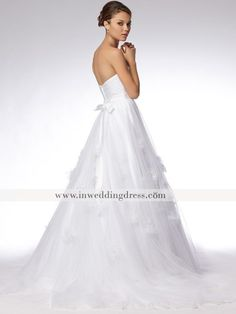 Fabulous Cotton Eyelet Ball Gown Strapless Sweetheart Floor Length Wedding Dress Style at Angelweddingdress