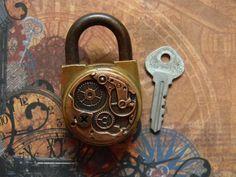 Artfully Steampunk Embellished Vintage Brass by CuriosityShopper
